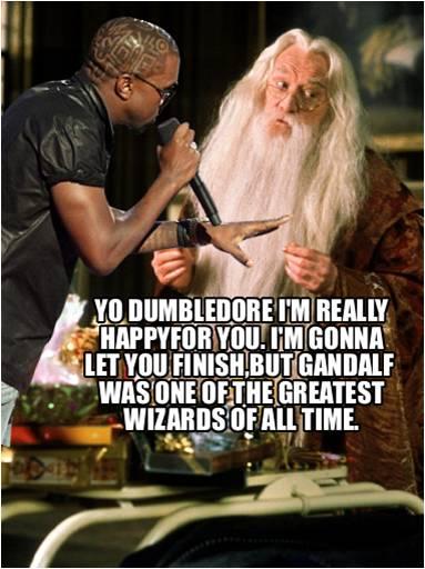 Kanye Interputs Dumbledore